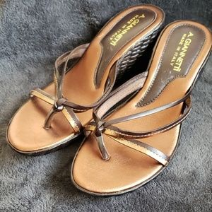 A.Giannetti wedge sandals